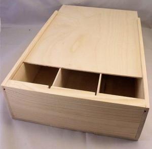 wooden 3 bottle wine box