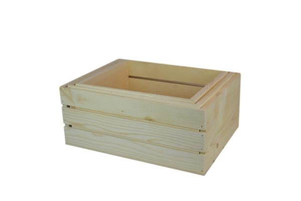 large 3 piece wooden nesting crates