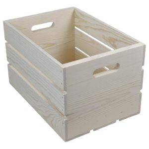 wooden crate hand holed 14