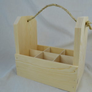 wooden 6-pack gift crate