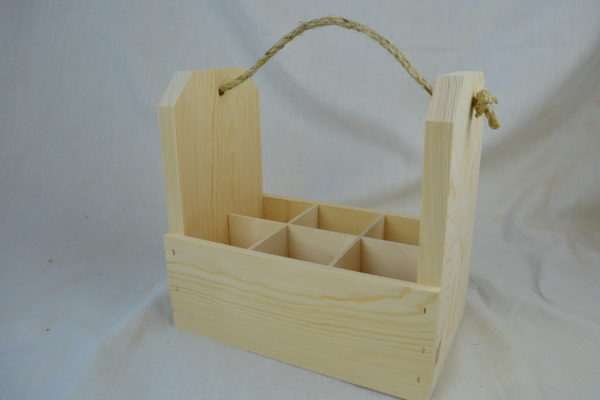 wholesale wooden 6-pack gift crate