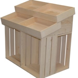 wooden half barn end cap