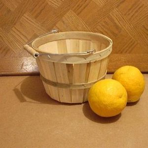 wooden 1 half peck baskets