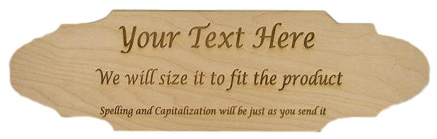 wooden sign shape 3