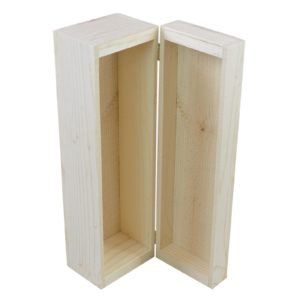wooden single bottle hinge box