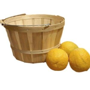 wooden peck baskets