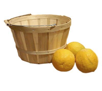 wooden peck baskets