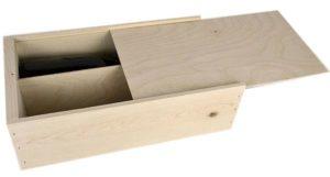wooden box 2 bottle