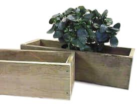 "wooden 30"" cedar planter"