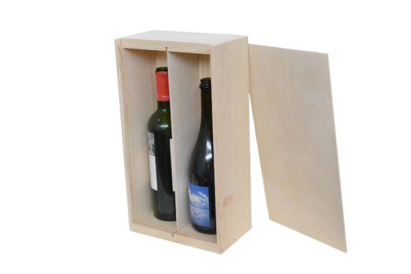 2 bottle wine box