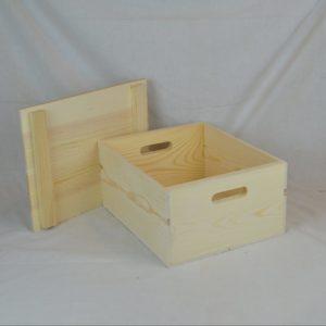 wooden box drop top off