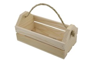 wooden country tote crate