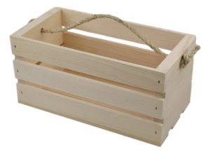 wooden western tote crate
