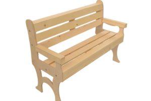 wooden park bench 48