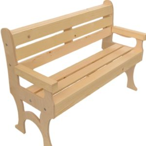 wooden park bench 48