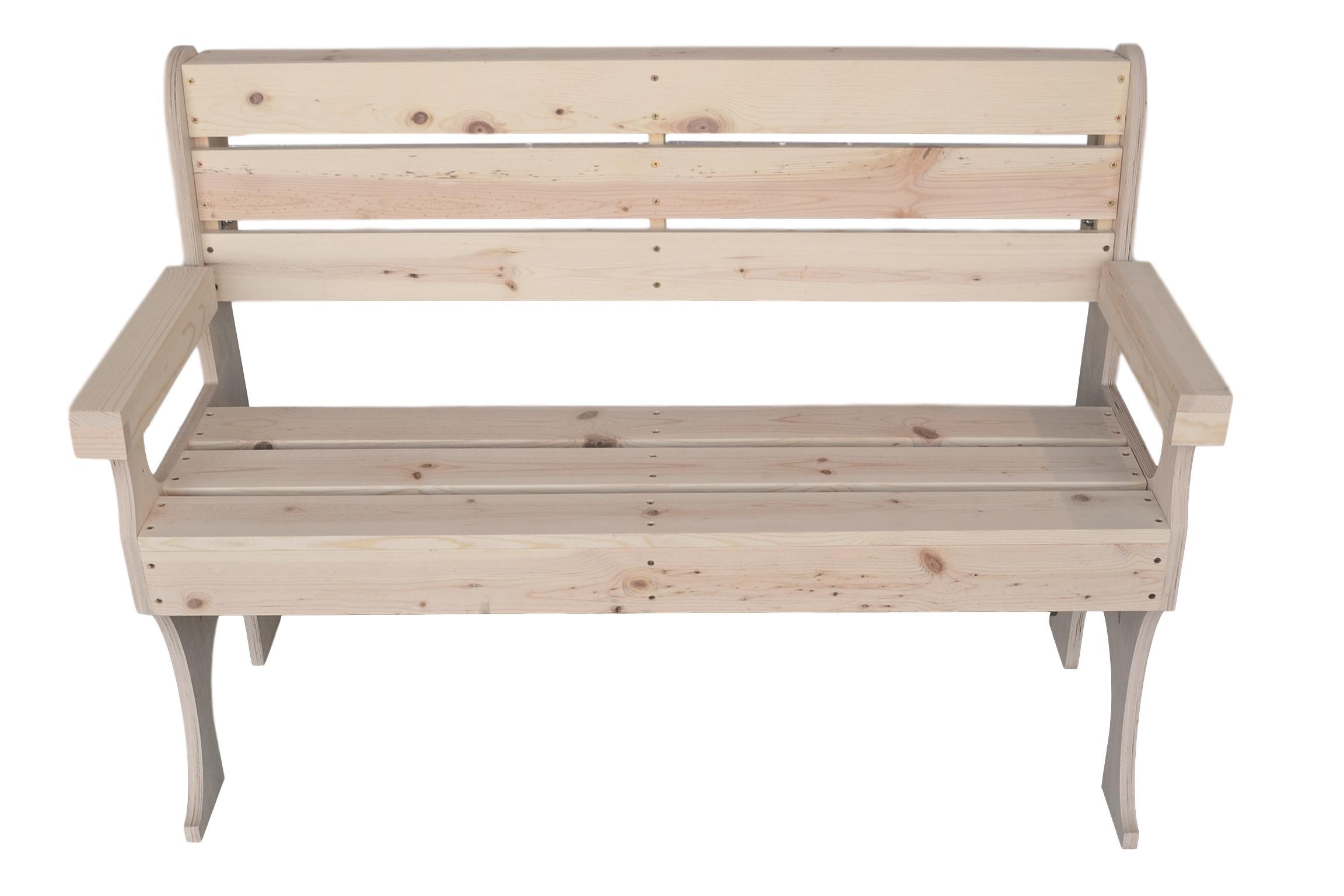 Remarkable Wooden Park Bench 48 Inches Long Lamtechconsult Wood Chair Design Ideas Lamtechconsultcom