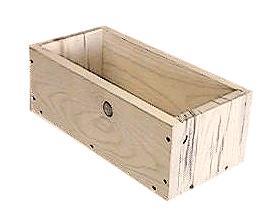 """wooden 30"""" pine planter"""