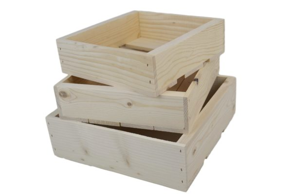 3 piece wooden nesting boxes