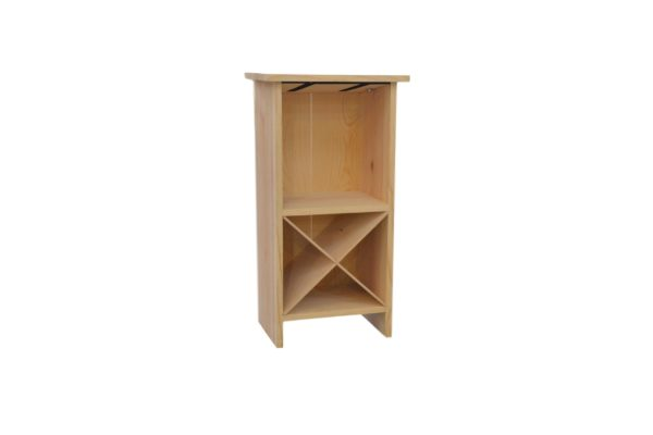 wooden end-table wine rack