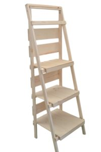 wooden display ladder