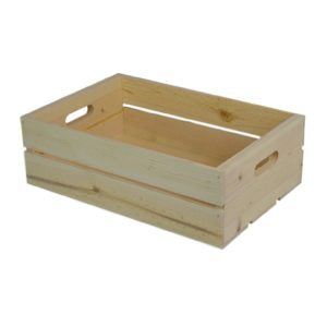 wooden hand hole crate