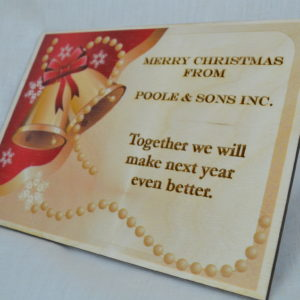 Wood Holiday Cards