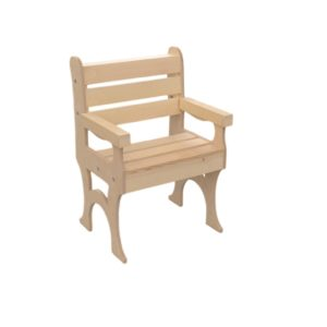 wooden outside deck chair