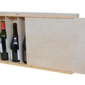 6 bottle wine box large