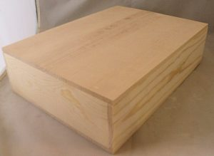 Wooden 3 Bottle Hinged Gift Box closed