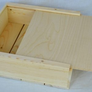 wholesale wooden box 12x12x4 slide top