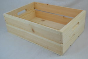 wooden hand hole crate angle