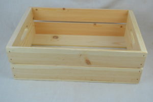 wooden hand hole crate side