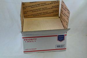 wooden slide top box 12 x 12 x 6 in box