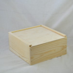 wholesale wooden slide top boxes 12x12x6