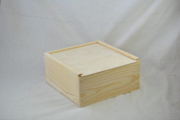 wholesale wooden slide top boxes 12x12x6