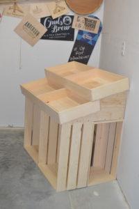 wooden 1 half barn end cap display side