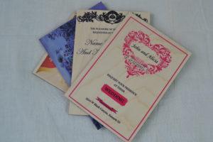 wooden wedding invitations multiple