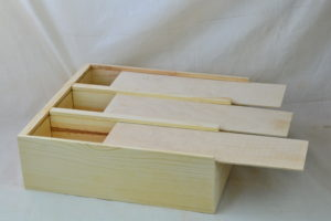 wooden anniversary box lids open