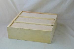 wooden anniversary box lids closed