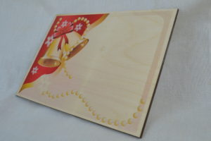 wooden christmas cards blank