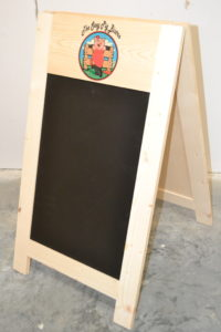 Wooden A-frame Chalkboard with logo