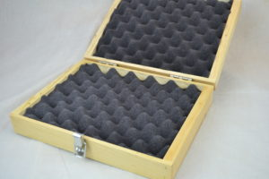 wooden pistol box open