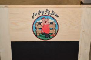 Wooden A-frame Chalkboard logo