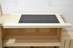 Wooden A-frame Chalkboard flat