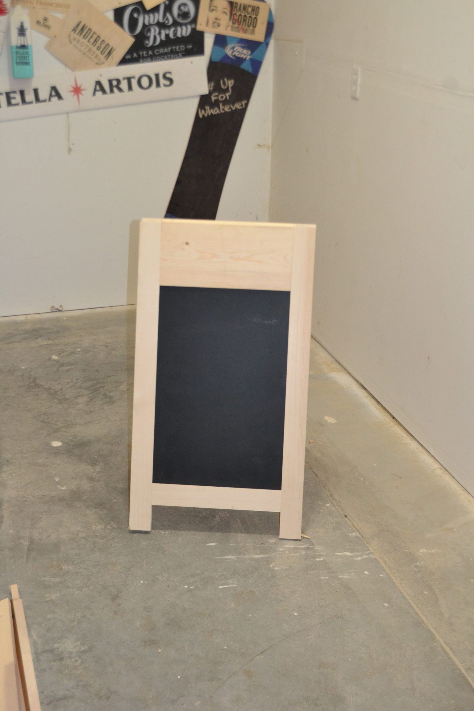 Wooden A-Frame Chalkboard - Poole & Sons, Inc.