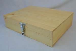 wooden pistol box front