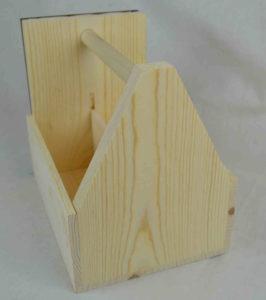 wooden condiment carrier-menu holder back