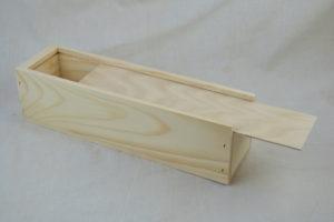 wooden wine box single open
