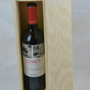 wooden wine box single lid off