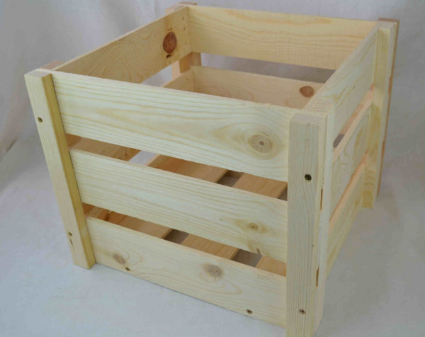 wholesale wooden crate knockdown style